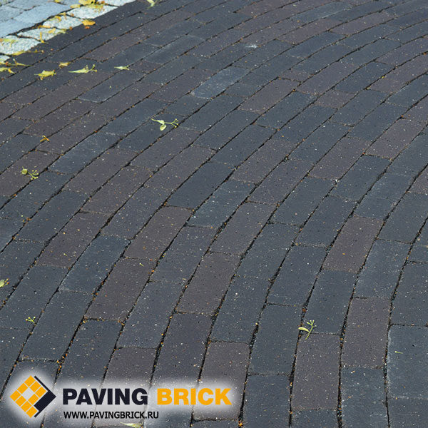 Клинкерная брусчатка Vandersanden (Голландия) Terra Modena antica schwarz braun nuanciert
