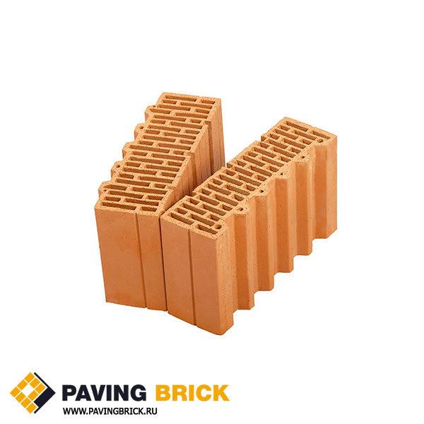 Керамический поризованный блок Porotherm 38 1/2 доборный элемент M100 10,67 NF - фото 1