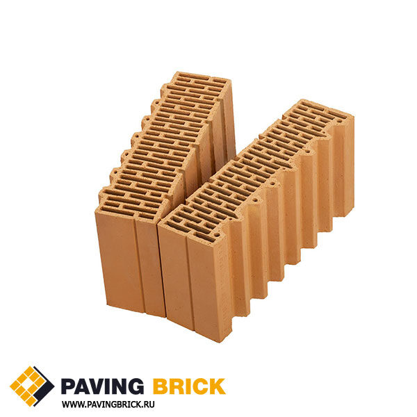 Керамический поризованный блок Porotherm 51 1/2 доборный элемент M100 14,32 NF - фото 1