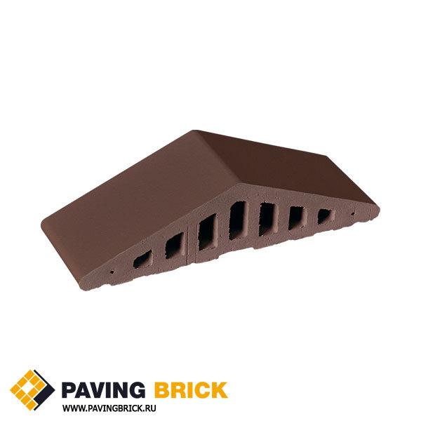 Закругленный профильный кирпич для забора King Klinker 03 Natural brown (Коричневый натуральный) - фото 1