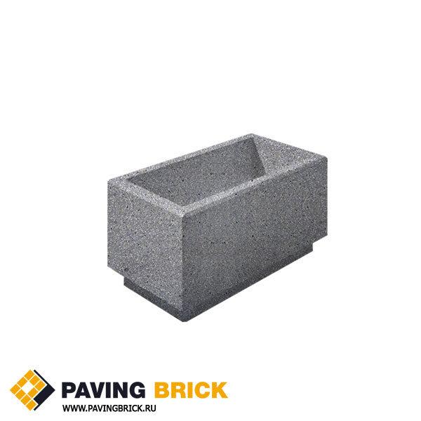 Бетонная цветочница Выбор Мозаичный бетон серый 800х400х400мм