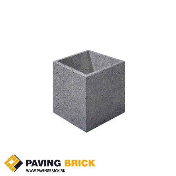 Бетонная цветочница Выбор Мозаичный бетон серый 600х600х600мм