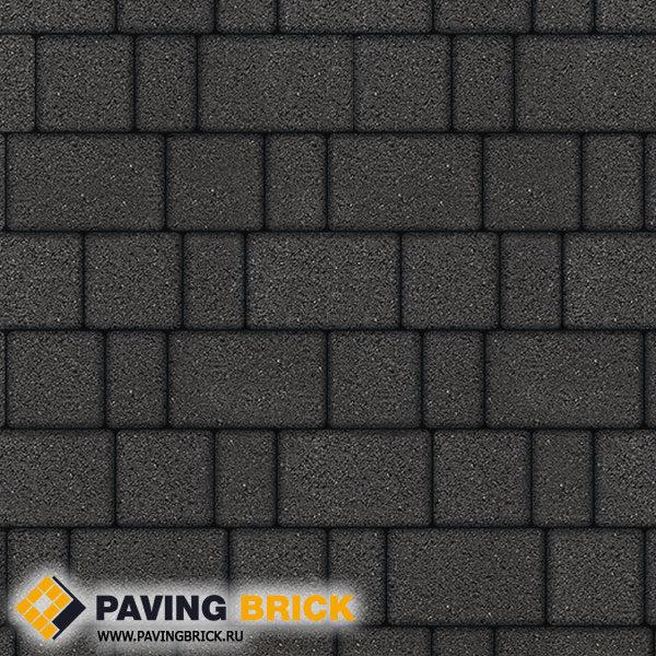 Тротуарная плитка ВЫБОР Старый город Б.1.Ф.6 Гранит 260х160/160х160/160х100х60мм цвет Черный