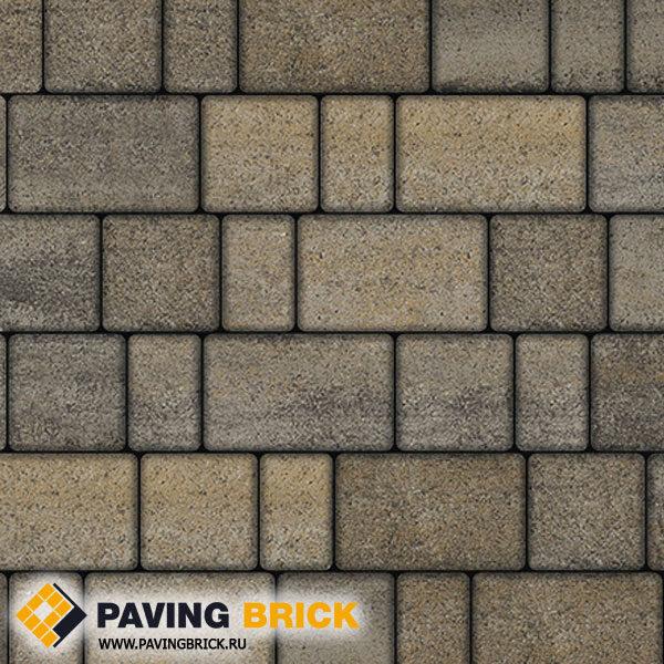 Тротуарная плитка ВЫБОР СТАРЫЙ ГОРОД Б.1.Ф.6 Искусственный камень цвет Базальт
