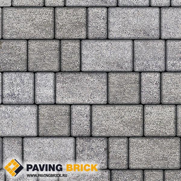 Тротуарная плитка ВЫБОР Старый город Б.1.Ф.6 Искусственный камень  260х160/160х160/160х100х60мм цвет Шунгит