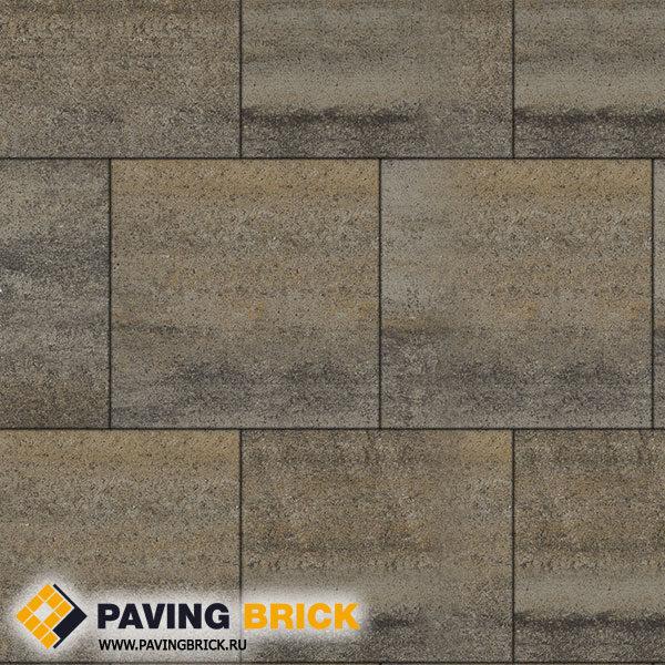 Тротуарная плитка ВЫБОР КВАДРУМ Б.5.К.6 Искусственный камень 500х500х60мм цвет Базальт