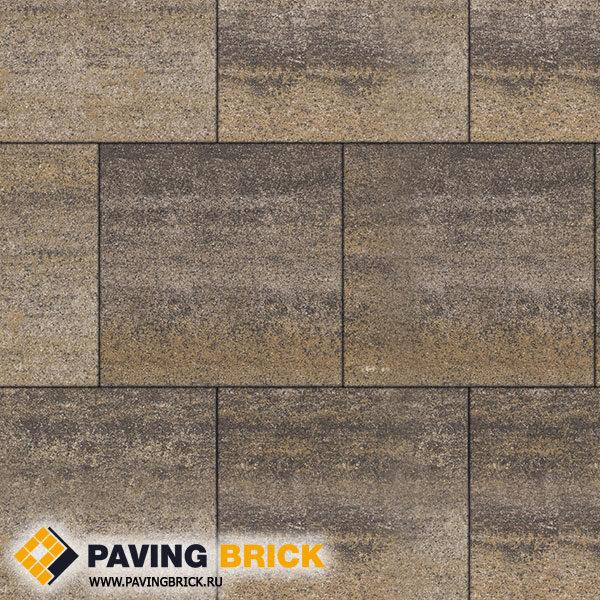 Тротуарная плитка ВЫБОР КВАДРУМ Б.5.К.6 Искусственный камень 500х500х60мм цвет Доломит