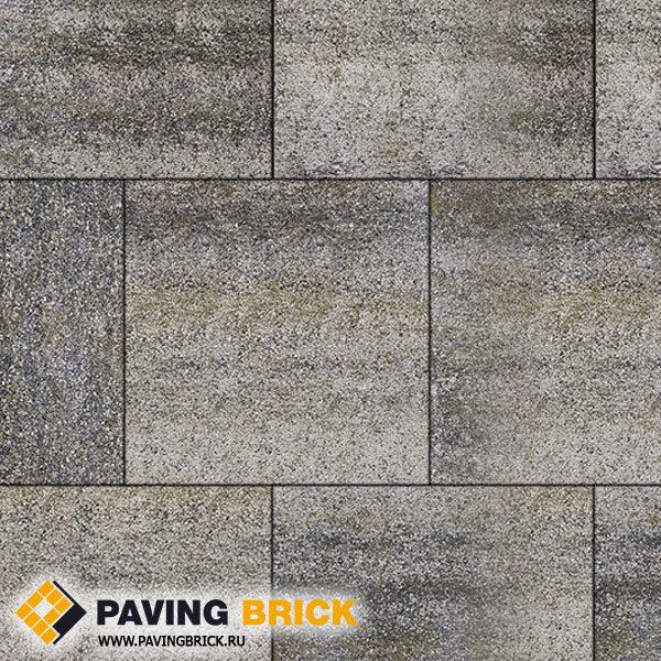 Тротуарная плитка ВЫБОР КВАДРУМ Б.5.К.6 Искусственный камень 500х500х60мм цвет Габбро