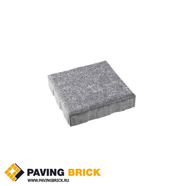 Тротуарная плитка ВЫБОР КВАДРУМ Б.5.К.6 Искусственный камень 500х500х60мм цвет Шунгит