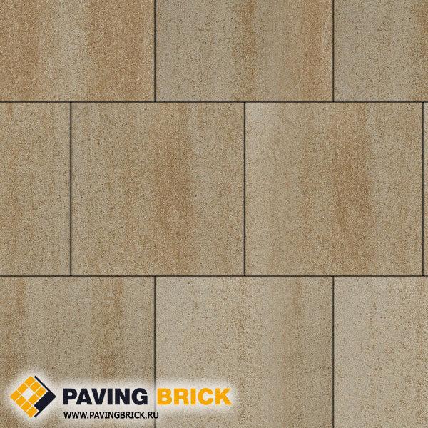 Тротуарная плитка ВЫБОР КВАДРУМ Б.5.К.6 Искусственный камень 500х500х60мм цвет Степняк