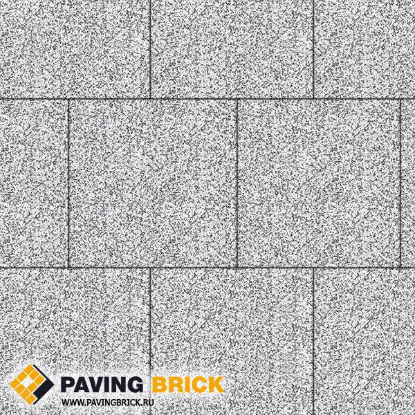Тротуарная плитка ВЫБОР КВАДРУМ Б.5.К.6 Стоунмикс 500х500х60мм цвет Бело черный