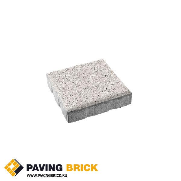 Тротуарная плитка ВЫБОР КВАДРУМ Б.5.К.6 Стоунмикс 500х500х60мм цвет Белый