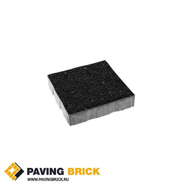 Тротуарная плитка ВЫБОР КВАДРУМ Б.5.К.6 Стоунмикс 500х500х60мм цвет Черный