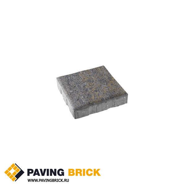 Тротуарная плитка ВЫБОР КВАДРУМ Б.6.К.6 Искусственый камень 400х400х60мм цвет Базальт