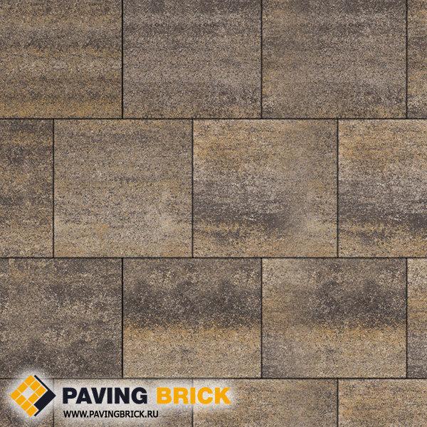 Тротуарная плитка ВЫБОР КВАДРУМ Б.6.К.6 Искусственный камень 400х400х60мм цвет Доломит