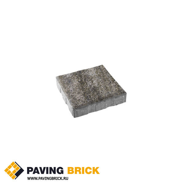 Тротуарная плитка ВЫБОР КВАДРУМ Б.6.К.6 Искусственый камень 400х400х60мм цвет Габбро