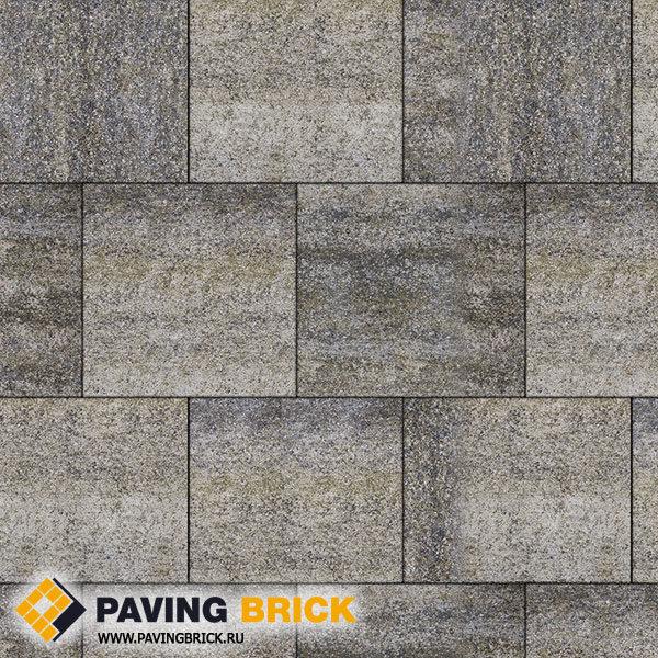 Тротуарная плитка ВЫБОР КВАДРУМ Б.6.К.6 Искусственный камень 400х400х60мм цвет Габбро