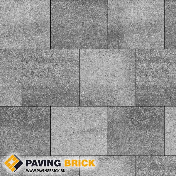 Тротуарная плитка ВЫБОР КВАДРУМ Б.6.К.6 Искусственный камень 400х400х60мм цвет Шунгит