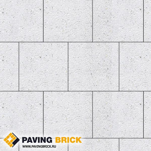 Тротуарная плитка ВЫБОР КВАДРУМ Б.6.К.6 Стоунмикс 400х400х60мм цвет Белый