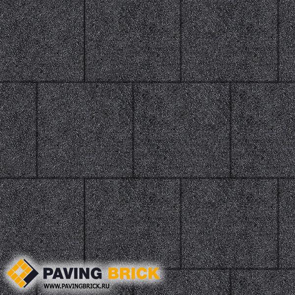 Тротуарная плитка ВЫБОР КВАДРУМ Б.6.К.6 Стоунмикс 400х400х60мм цвет Черный