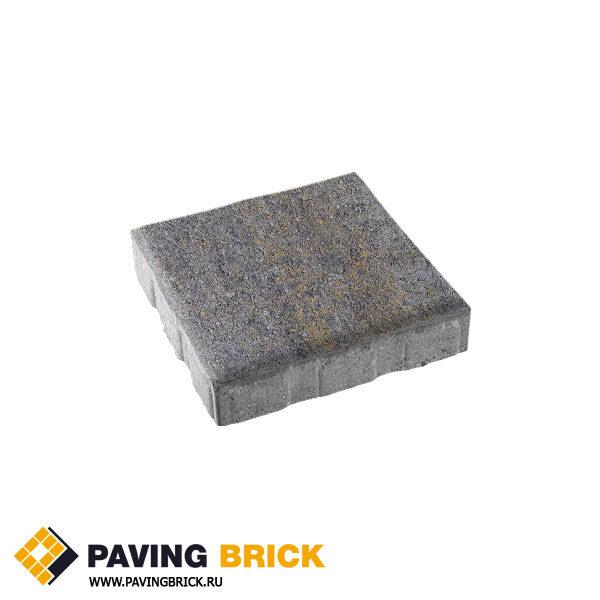 Тротуарная плитка ВЫБОР КВАДРУМ Б.7.К.8 Искусственный камень 600х600х80мм цвет Базальт
