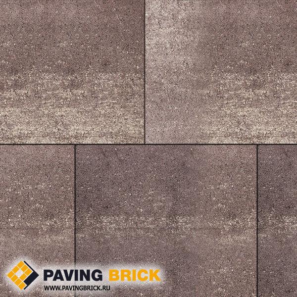 Тротуарная плитка ВЫБОР КВАДРУМ Б.7.К.8 Искусственный камень 600х600х80мм цвет Плитняк