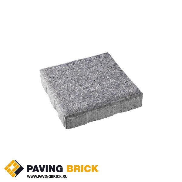 Тротуарная плитка ВЫБОР КВАДРУМ Б.7.К.8 Искусственный камень 600х600х80мм цвет Шунгит