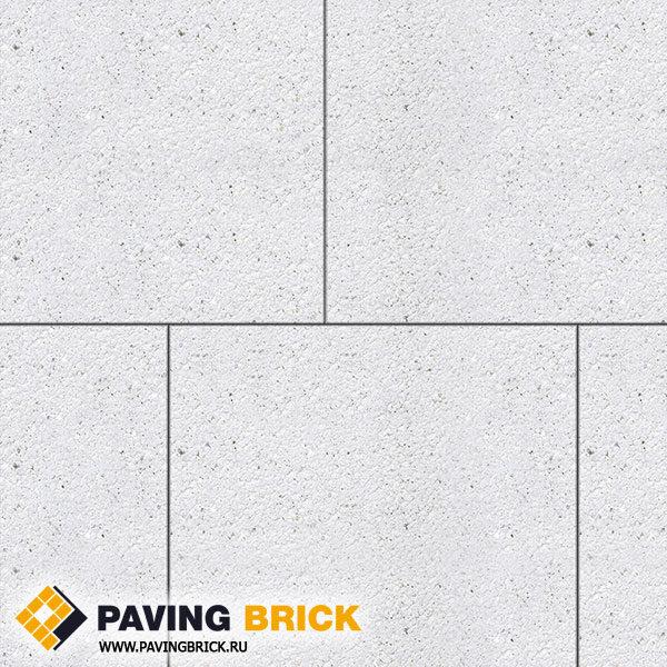 Тротуарная плитка ВЫБОР КВАДРУМ Б.7.К.8 Стоунмикс 600х600х80мм цвет Белый