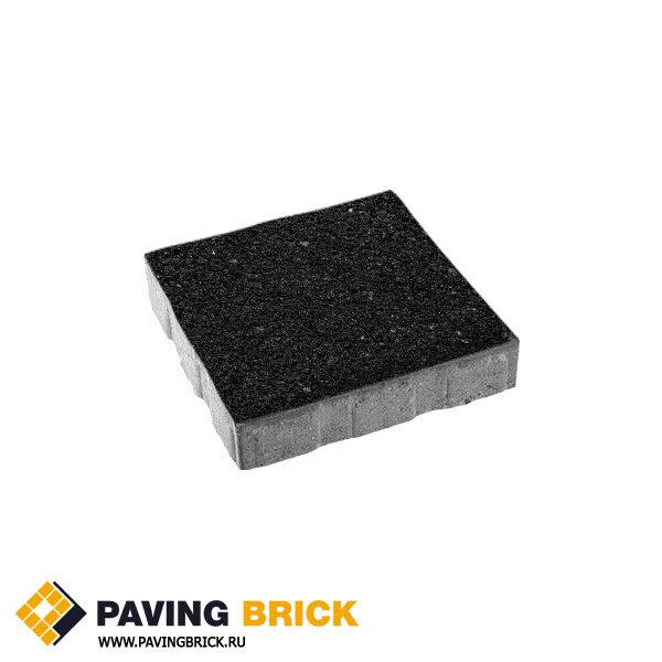 Тротуарная плитка ВЫБОР КВАДРУМ Б.7.К.8 Стоунмикс 600х600х80мм цвет Черный
