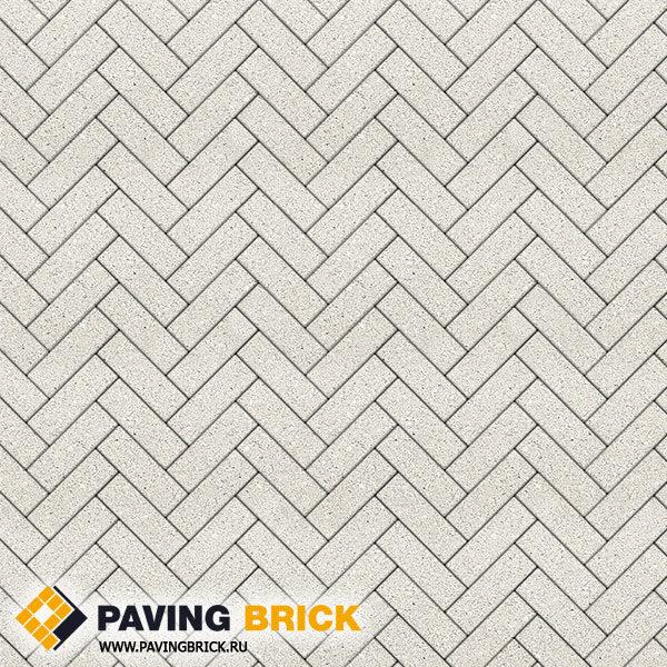 Тротуарная плитка ВЫБОР Паркет Б.4.П.6 Гранит 180х60х60мм цвет Белый