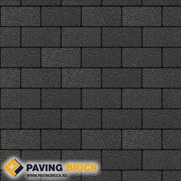 Тротуарная плитка ВЫБОР Ла Линия А.2.П.4 Гранит 200х100х40мм цвет Черный - фото 1