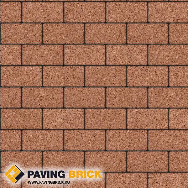 Тротуарная плитка ВЫБОР Ла Линия А.2.П.4 Гранит 200х100х40мм цвет Оранжевый - фото 1