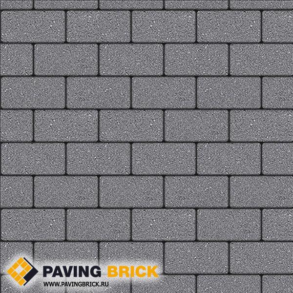 Тротуарная плитка ВЫБОР Ла Линия А.2.П.4 Гранит 200х100х40мм цвет Серый - фото 1