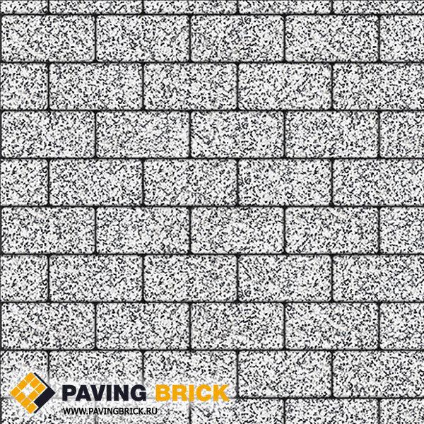 Тротуарная плитка ВЫБОР Ла Линия А.2.П.4 Стоунмикс 200х100х40мм цвет Бело черный - фото 1