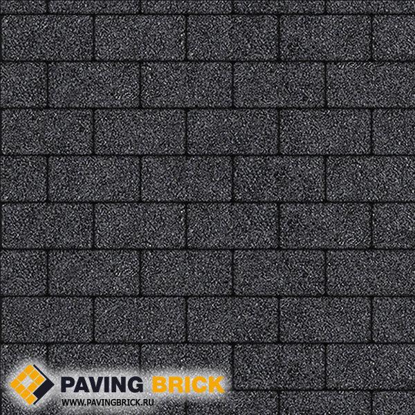 Тротуарная плитка ВЫБОР Ла Линия А.2.П.4 Стоунмикс 200х100х40мм цвет Черный