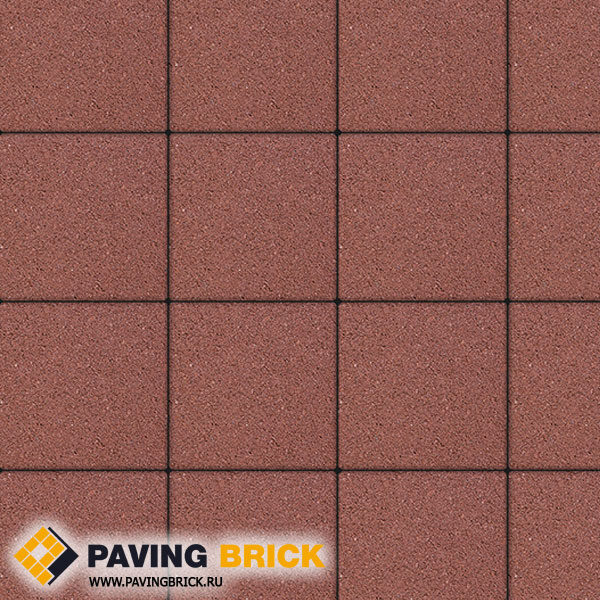 Тротуарная плитка ВЫБОР Ла Линия Б.1.К6 Гранит 300х300х60мм цвет Красный - фото 1