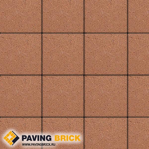 Тротуарная плитка ВЫБОР Ла Линия Б.1.К6 Гранит 300х300х60мм цвет Оранжевый - фото 1