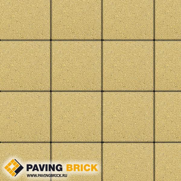 Тротуарная плитка ВЫБОР Ла Линия Б.1.К6 Гранит 300х300х60мм цвет Желтый - фото 1