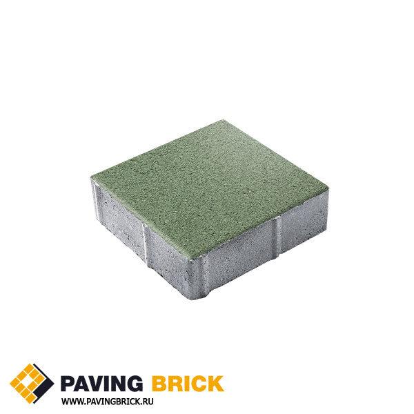 Тротуарная плитка ВЫБОР Ла Линия Б.1.К6 Гранит 300х300х60мм цвет Зеленый