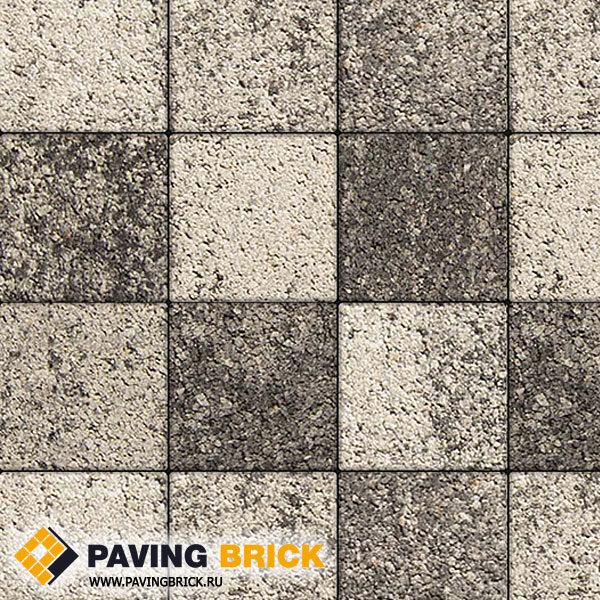 Тротуарная плитка ВЫБОР Ла Линия Б.1.К6 Листопад гладкий 300х300х60мм цвет Антрацит