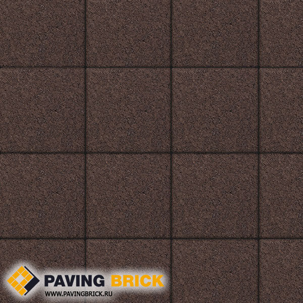 Тротуарная плитка ВЫБОР Ла Линия Б.1.К6 Стандарт 300х300х60мм цвет Коричневый - фото 1