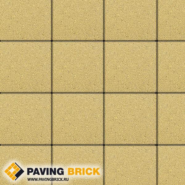 Тротуарная плитка ВЫБОР Ла Линия Б.1.К6 Стандарт 300х300х60мм цвет Желтый - фото 1