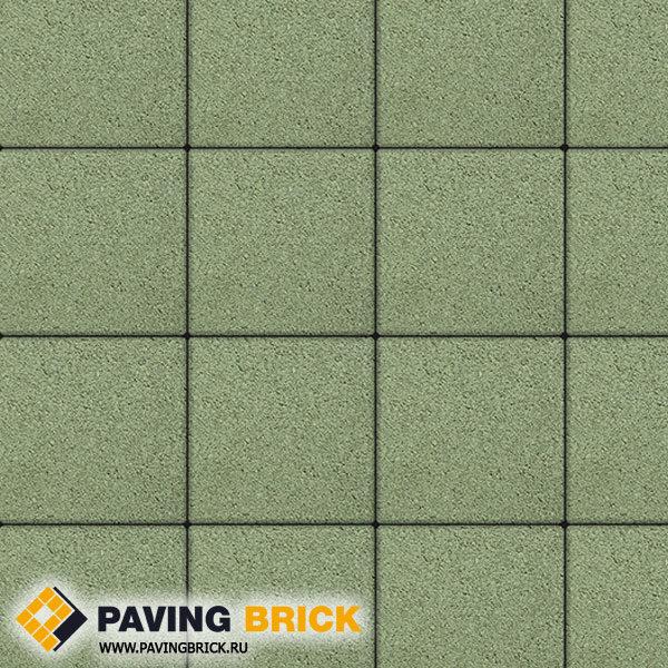 Тротуарная плитка ВЫБОР Ла Линия Б.1.К6 Стандарт 300х300х60мм цвет Зеленый - фото 1