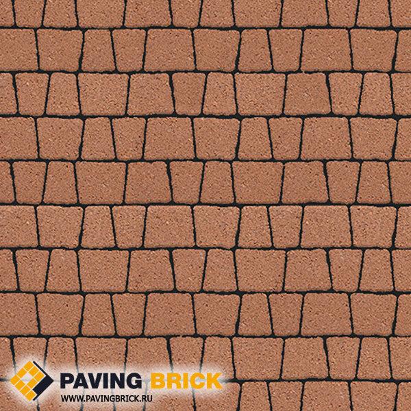 Тротуарная плитка ВЫБОР АНТИК Б.3.А.6 Гранит комплект из 5 форматов цвет Оранжевый - фото 1