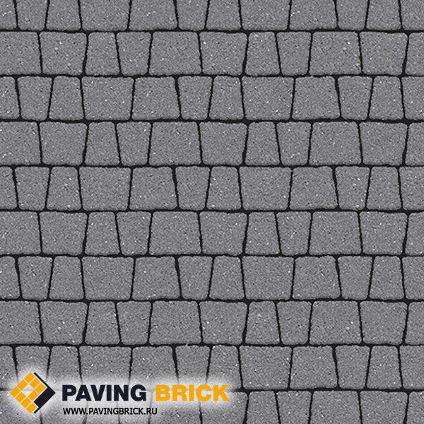 Тротуарная плитка ВЫБОР АНТИК Б.3.А.6 Гранит комплект из 5 форматов цвет Серый - фото 1
