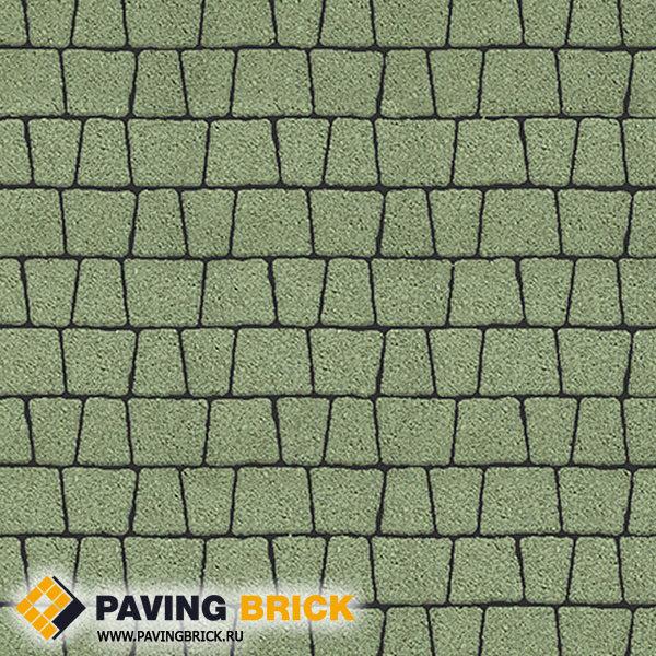 Тротуарная плитка ВЫБОР АНТИК Б.3.А.6 Гранит комплект из 5 форматов цвет Зеленый - фото 1