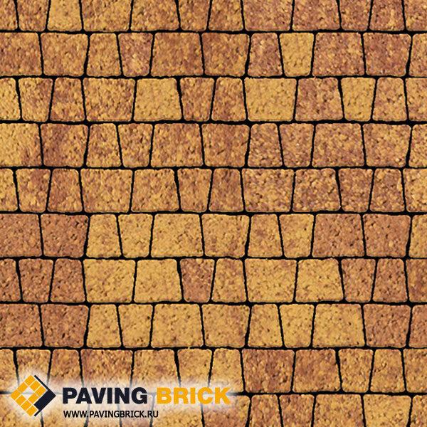 Тротуарная плитка ВЫБОР АНТИК Б.3.А.6 Листопад гладкий комплект из 5 форматов цвет Каир - фото 1