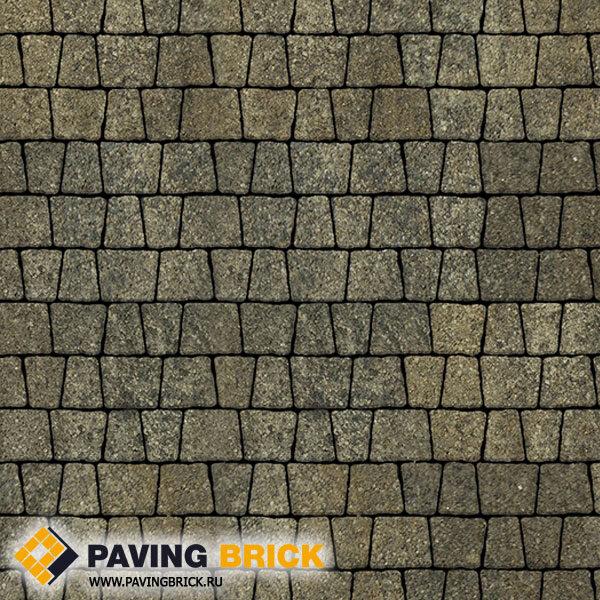 Тротуарная плитка ВЫБОР АНТИК Б.3.А.6 Листопад гладкий комплект из 5 форматов цвет Старый замок - фото 1