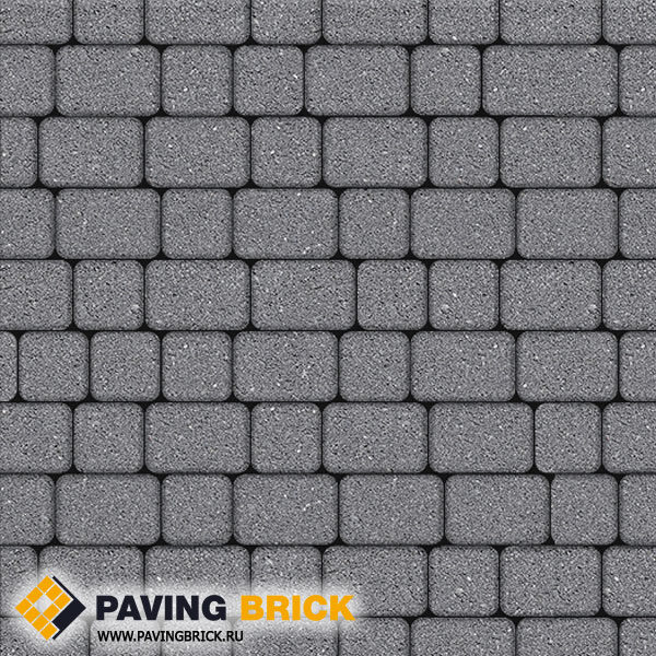Тротуарная плитка ВЫБОР КЛАССИКО А.1.КО.4 Гранит комплект из 2-х форматов цвет Серый - фото 1