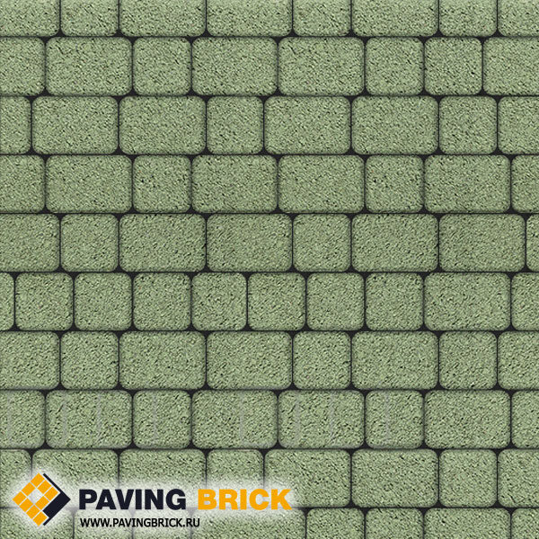 Тротуарная плитка ВЫБОР КЛАССИКО А.1.КО.4 Гранит комплект из 2-х форматов цвет Зеленый - фото 1